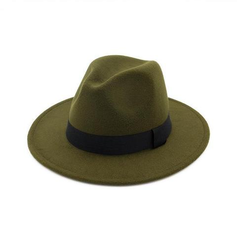 Classic Colored Polyester Fedora Hat (11 Available Colors)