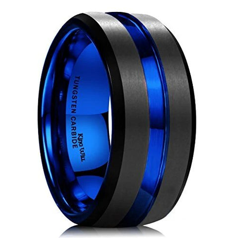 Black Matte Tungsten Carbide Ring Wedding Band