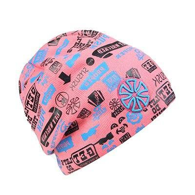 Hip Hop Printed Thick Cotton Knitted Cap (12 Available Color)