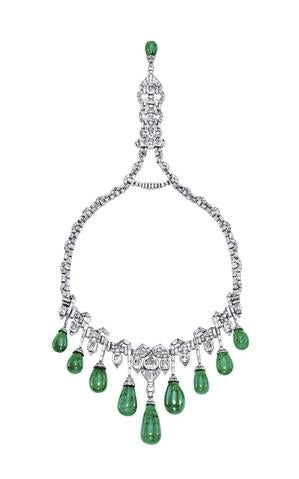 Magnificent Diamond and Emerald Necklace by VAN CLEEF & ARPELS