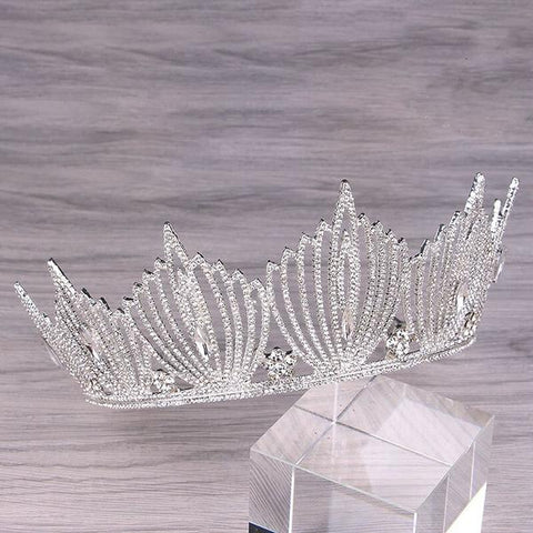 Silver and Gold Princess Crystal Crown