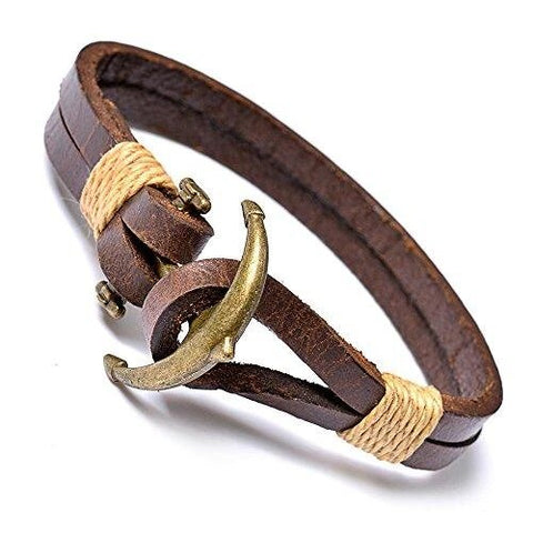 Brown Bracelet Anchor Stretch Bangles