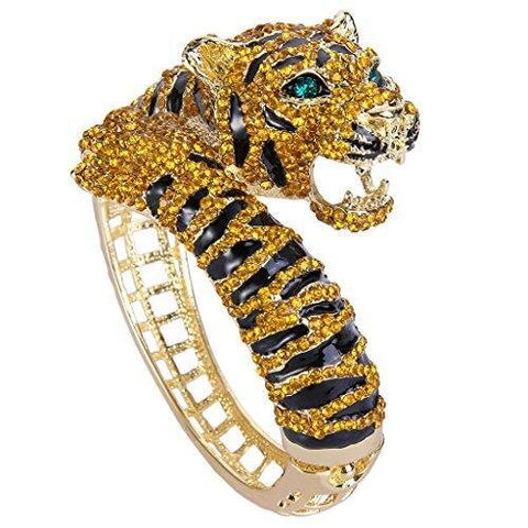 Tiger Crystal Enamel Fashion Bracelet