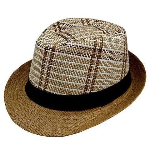Jazz Fedora Patterned Straw Hat (3 Available Colors)