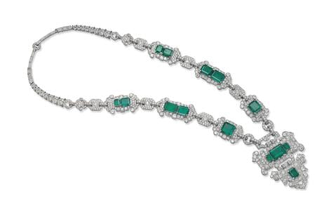 Emerald Diamond String, BY CARTIER