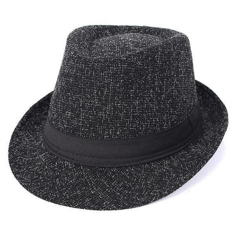 Black Leather Hatband Tweed Wool Hat (5 Available Colors)