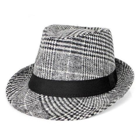 Old-fashioned Checkered Wool Hat (3 Available Colors)