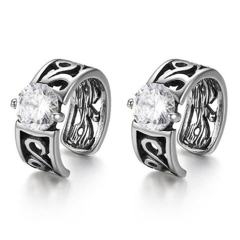 Non-Piercing Crystal Vintage Clip-on Stainless Steel Earring