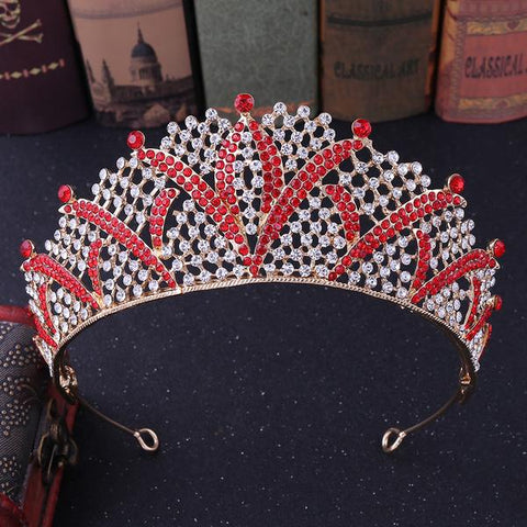 Baroque Crowns and Tiaras with Rhinestones