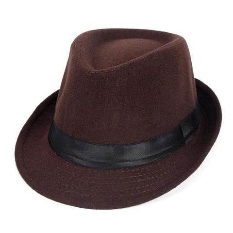 Classic Polyester Snap Brim Trilby Hat (3 Available Colors)