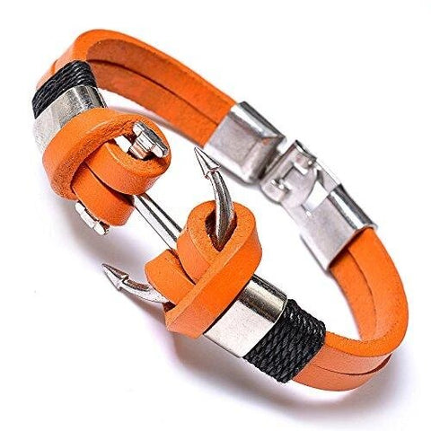 Orange Fashion Anchor Bracelet