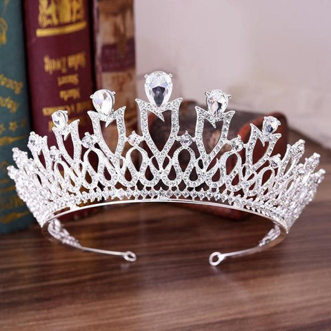 European Monarch Crystal Wedding Crown