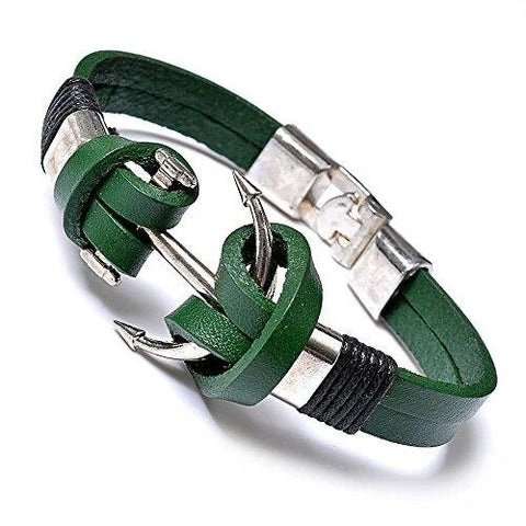Green Fashion Anchor Bracelet