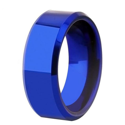 Bolt Blue Tungsten Carbide Fashion Ring (15 Available Size)