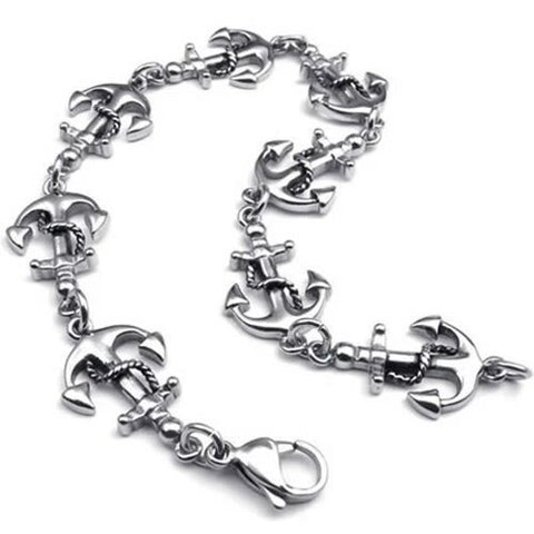 Stainless Steel Love Anchor Bracelet