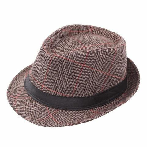Old-School Plaid Short Brimmed Cotton Hat (5 Available Colors)