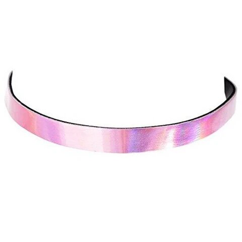 Metallic Iridescent Leather Funky Choker Necklace