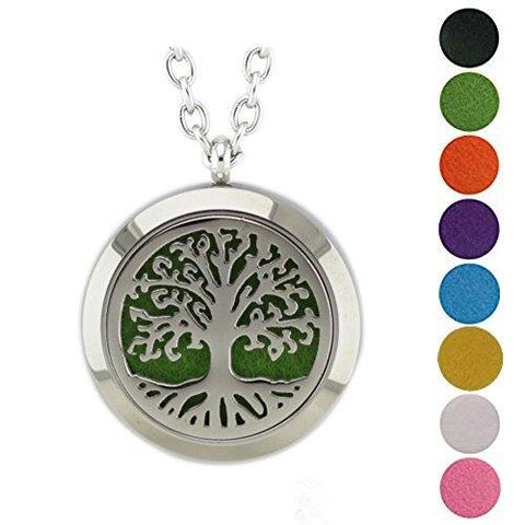 Believe Stainless Steel Locket Pendant Essential Oil Diffuser Necklace