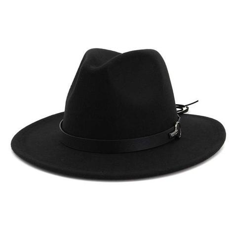 High Crown Leather Knot Tied Felt Hat (15 Available Colors)