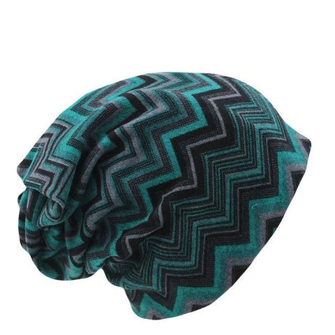 Zigzag Polyester Woven Beanie (4 Available Color)