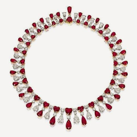 RED SCARLET NECKLACE, By James W. Currens for FAIDEE