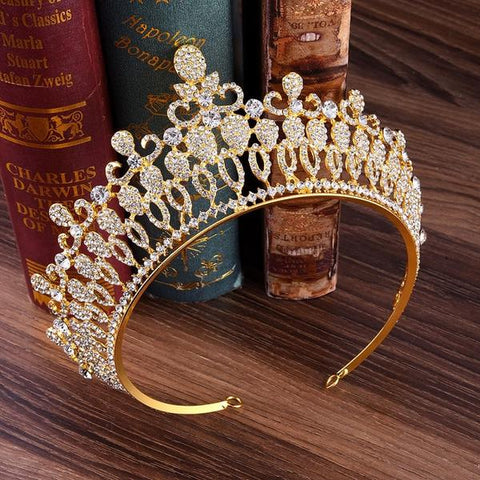 Baroque Princess Crystal Crown for Women