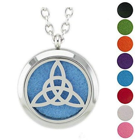 Stainless Steel Aromatherapy Magnetic Diffuser Necklace