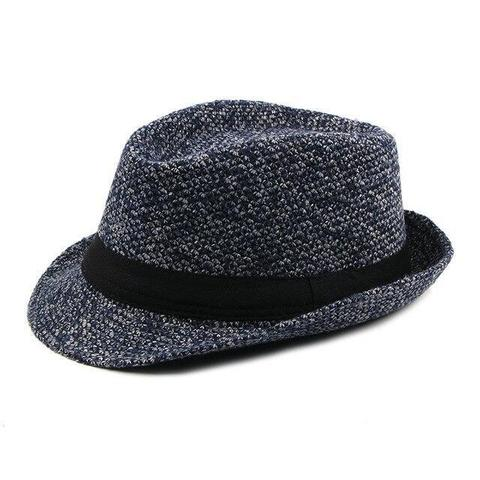 Knitted Polyester Speckled Trilby Hat (3 Available Colors)