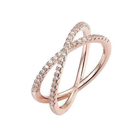 Gold Plated Sterling Silver Micro Pave Ring