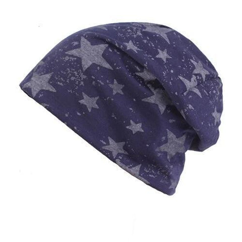 Two-Tone Polyester Star Beanie (6 Available Color)