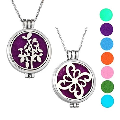 Toe-Piece Set Silver Essential Oil Diffuser Locket Necklace