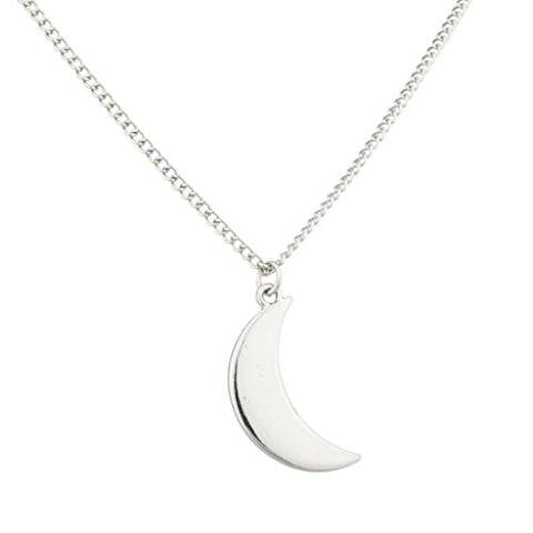 Traditional Crescent Moon Galaxy Pendant Necklace