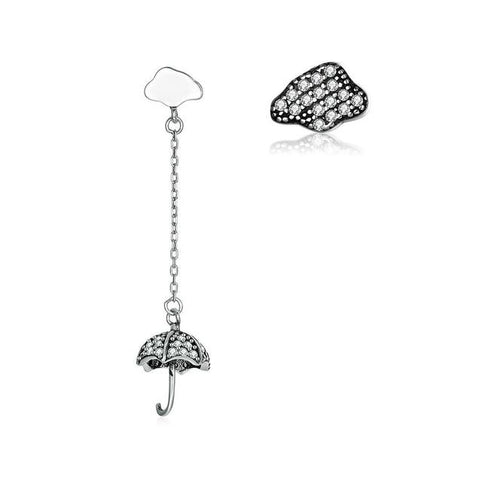 Mix Match Umbrella Cloud Sterling Silver Fashion Earring
