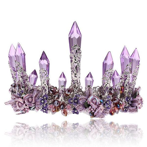 Purple Crystal Crown for Women