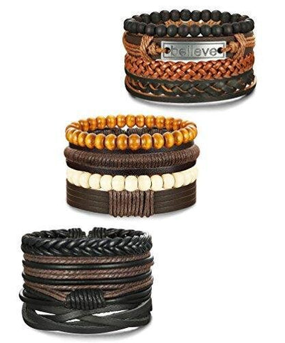Twelve Piece Adjustable Set Braided Leather
