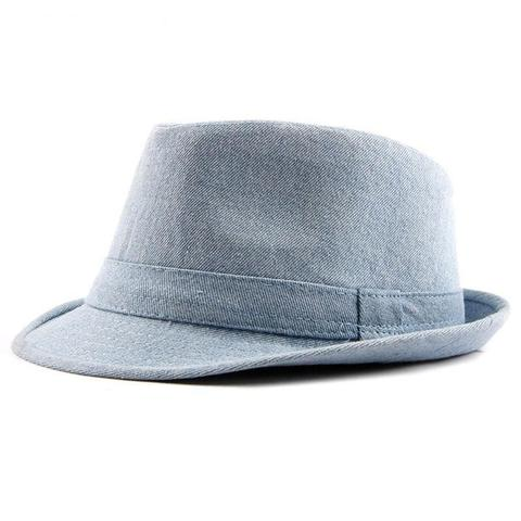 Blue Denim Short Brim Hat (2 Available Colors)