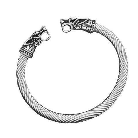 Two-Headed Dragon Twisted Cuff Bracelet (2 Available Color)