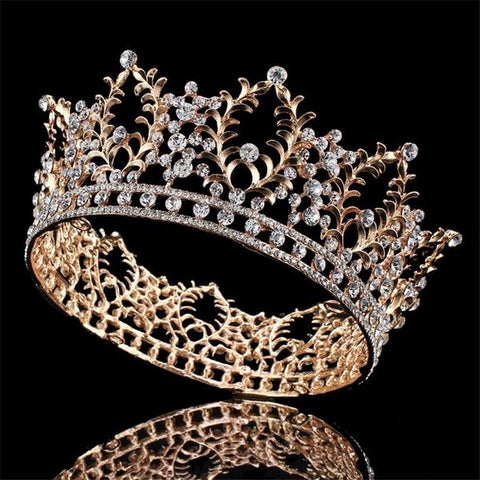 Queen's Dream Rhinestone Gold Crown
