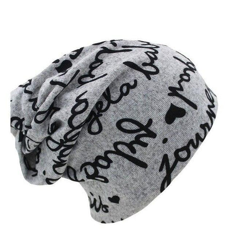 Hip Scribble Cotton Beanie (4 Available Color)