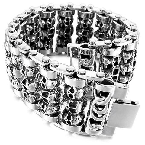 Thick Biker Chain Stainless Steel Bangle Bracelet