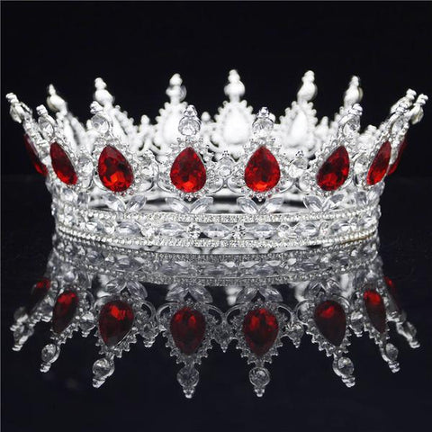 Royal Red & Silver Tiaras and Crowns