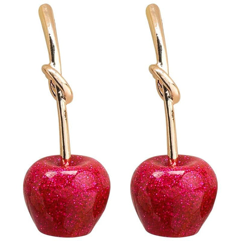 Red Apple Alloy Fashion Earrings