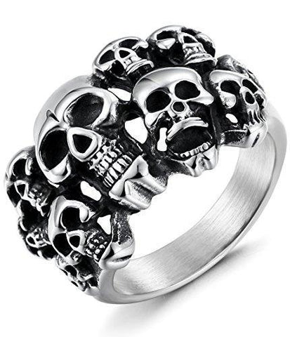 Legion of Skull Stainless Steel Ring (7 Available Size)