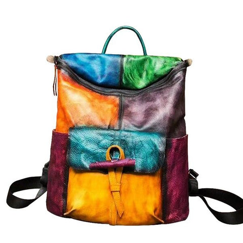 Polychromatic Cow Leather Backpack