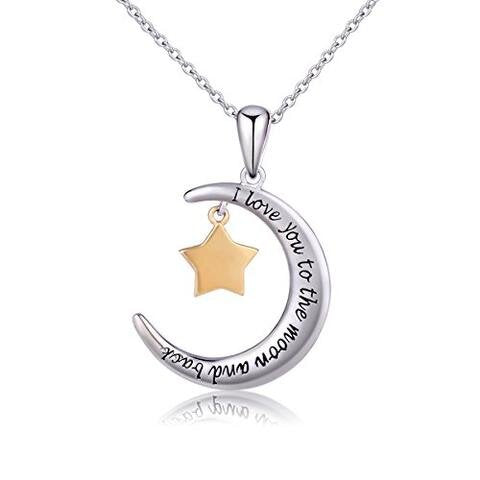 Sterling Silver Gold Five Stars Pendant Necklace