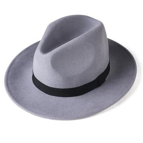 Classic Felt Curved Brim Fedora Hat (7 Available Colors)