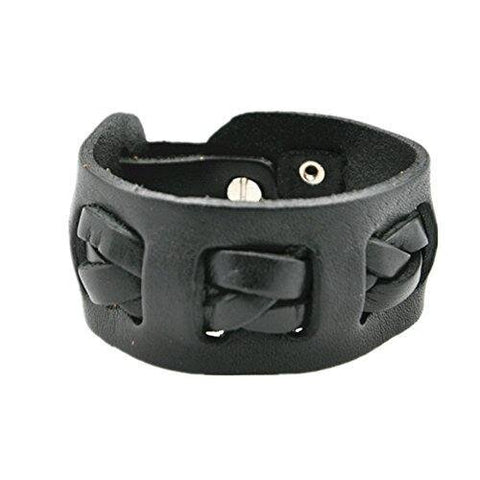 Old-fashioned Wrist Band Leather Bracelet for Men