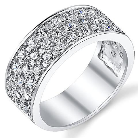 Iced Sterling Silver Cubic Zirconia CZ LGBTQ Wedding Ring