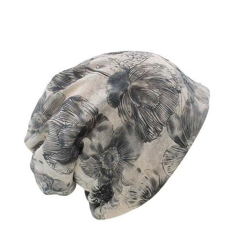 Artistic Floral Polyester Beanie (6 Available Color)
