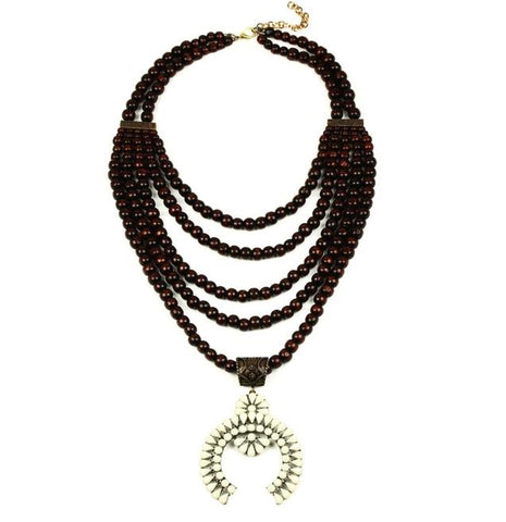 Multilayer Bead Squash Blossom Necklace